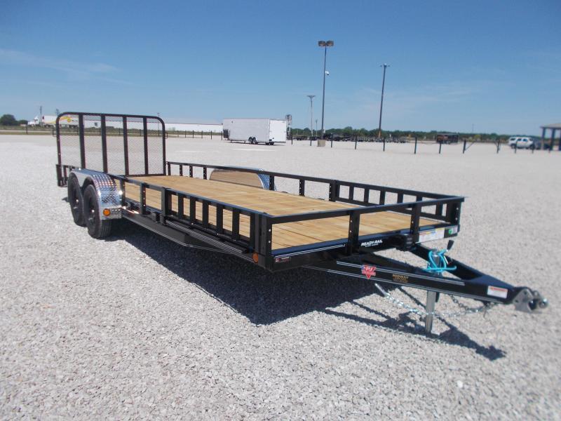 2022 PJ Trailers 83x22'(20+2)CH Utility w/Side MT ATV Ramps TA BP Utility Trailer