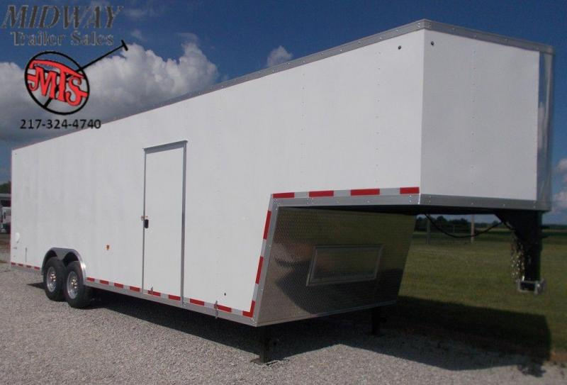 2020 Look Trailers 8.5 x 32 Gooseneck Flat Top Enclosed Cargo Trailer