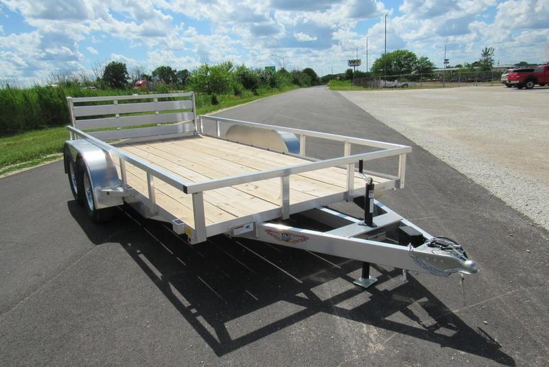 "2020 H and H Trailer 82"" X 14' RS Aluminum TA Utility BP Utility Trailer"