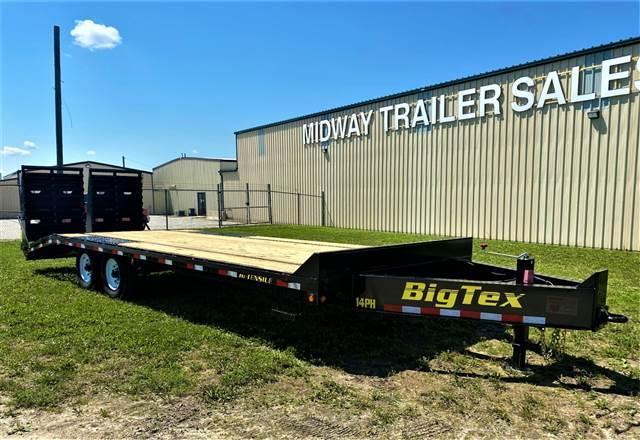 2016 Big Tex Trailers 102x25(20+5) 14PH Single Wheel TA Pintle Equipment Trailer