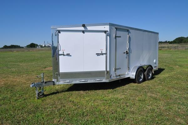 2020 Haul-it All Aluminum 7 x 19 Inline 2 Place Snowmobile Trailer For Sale