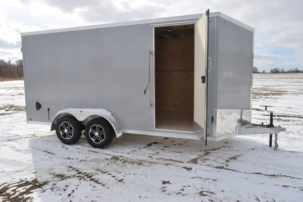 2020 Haul-it All Aluminum 7 x 16 Wedge Nose Enclosed Cargo Trailer For Sale