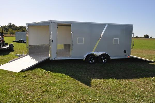 2020 Haul-it 7.5 x 23 All Aluminum Enclosed Snowmobile Trailer W/7' Interior for Sale