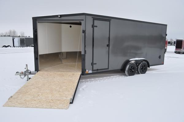 2021 Haul-it 7.5 x 23 All Aluminum Inline Snowmobile Trailer For Sale