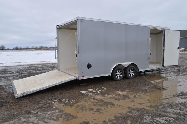 2020 Haul-it All Aluminum 8.5 x 20 Wedge Nose Car / Racing Trailer For Sale