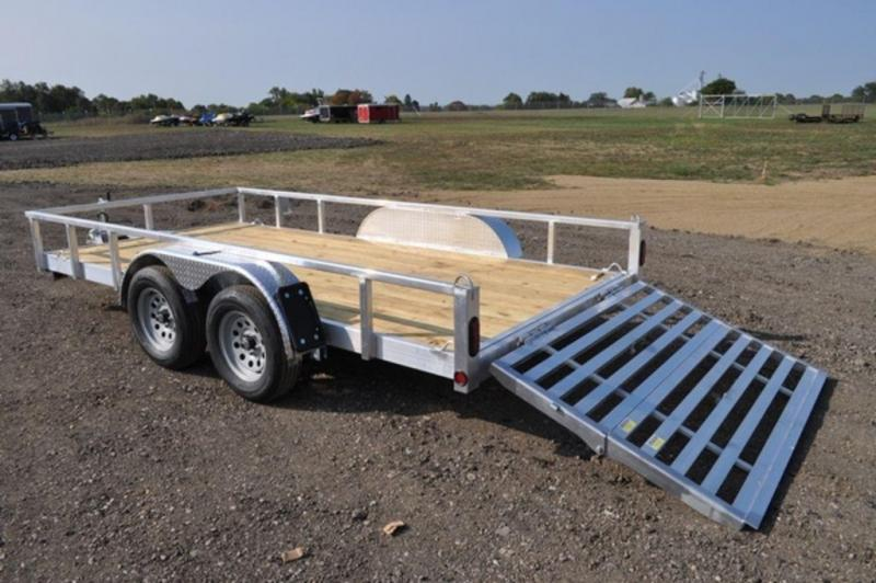 "2022 All Aluminum 80"" x 14' Tandem Axle Tube Top Utility Utility Trailer For Sale"