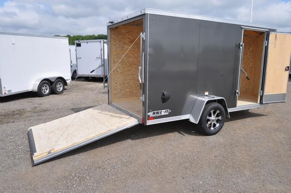 2020 Haul-it All Aluminum 6 x 12 Wedge Nose Enclosed Cargo Trailer For Sale