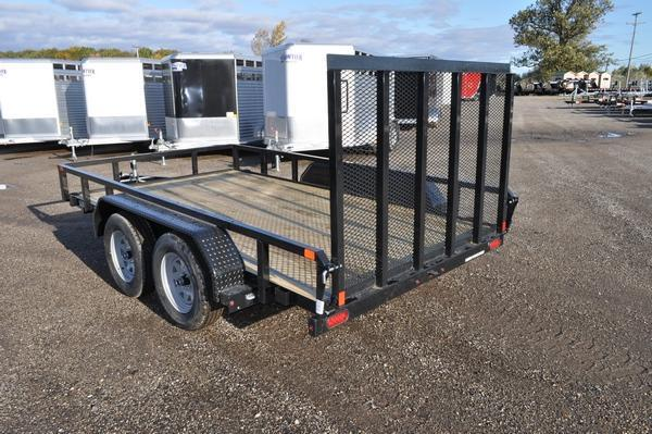 2020 Sure-Trac 7 x 12 Tube Top Tandem Axle Open Utility Trailer For Sale