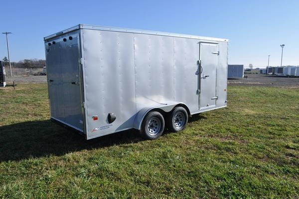 2021 American Hauler 7 x 16 Wedge Nose Enclosed Cargo Trailer For Sale