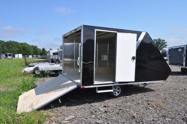 2020 Sport Haven 13' Aluminum Deluxe Hybrid for Sale Snowmobile Trailer
