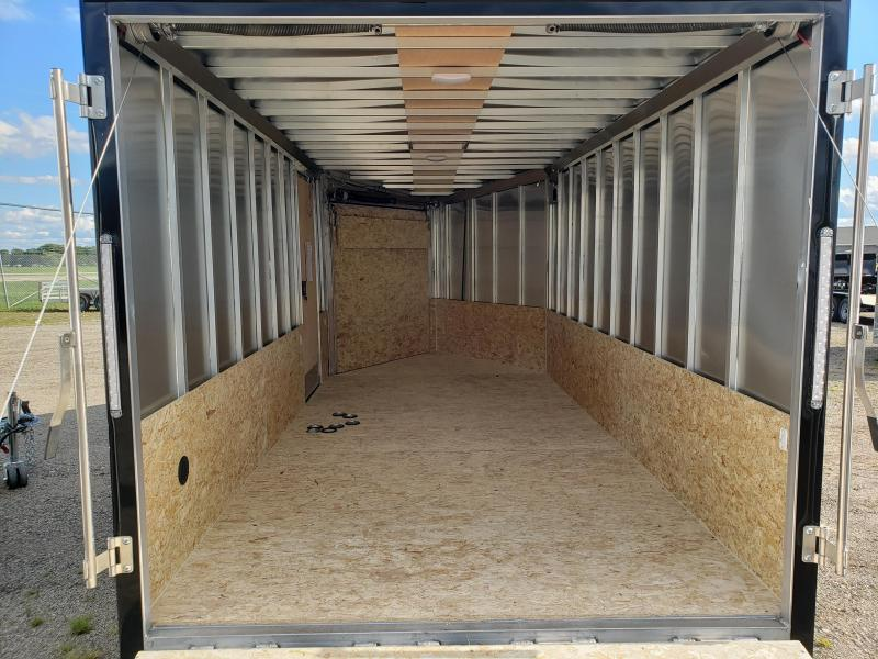 2022 Discovery Trailers 7x19 2 place aluminum snowmobile Trailer For Sale.