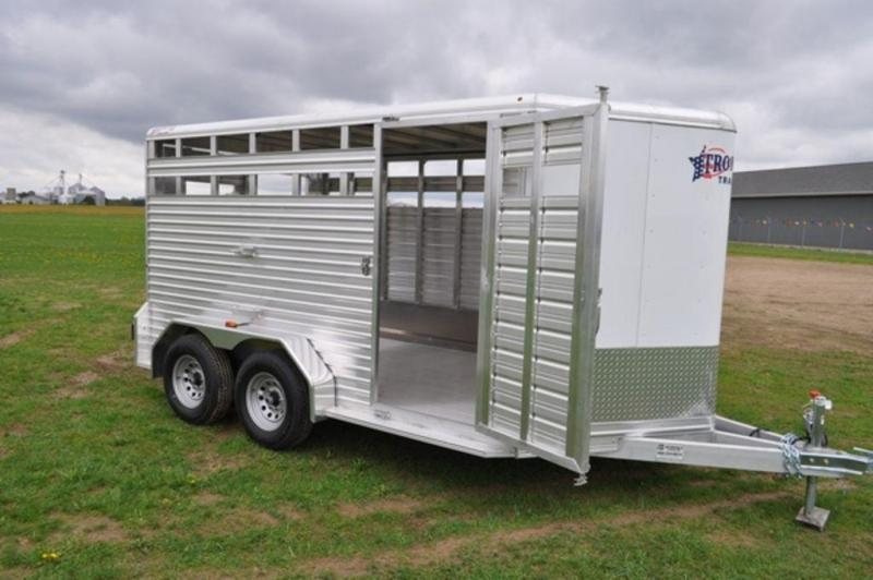 2018 Frontier 7 x 14 All Aluminum Livestock Trailer for Sale