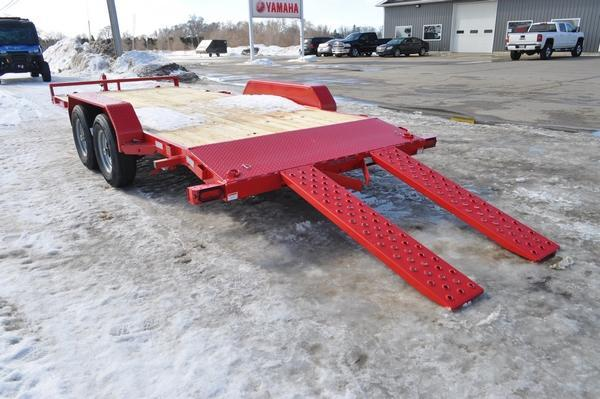 2021 Sure-Trac 7 x 18 (16+2) C-Channel Car Hauler Trailer for Sale