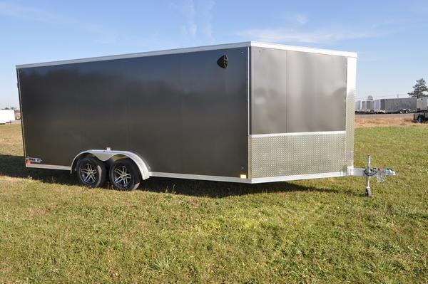 2021 Haul-it All Aluminum 7.5 x 23 Inline Snowmobile Trailer For Sale