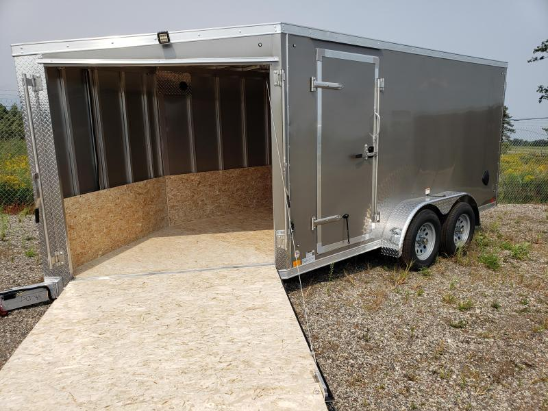 2022 Discovery Trailers 7x19  2 place  Snowmobile Trailer for sale.