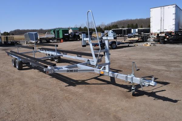 2021 Genesis 24' Tandem Axle Float On Pontoon Watercraft Trailer For Sale