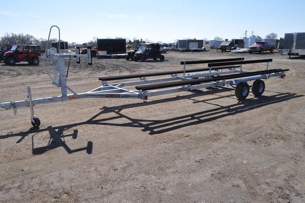 2021 Genesis 24' Tandem Axle Float On Pontoon Watercraft Trailer For Sale