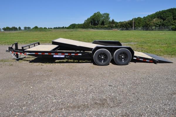 2021 Sure-Trac 7 x 18+4 Tilt Bed Equipment Trailer 14K For Sale