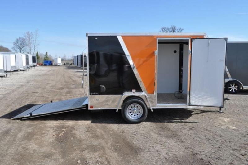 2020 Stealth 6 x 10 Two Tone Wedge Nose Motorcycle Trailer For Sale