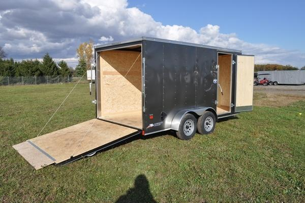 "2021 American Hauler 7 x 14 Wedge Nose 6'6"" Interior Enclosed Cargo Trailer For Sale"
