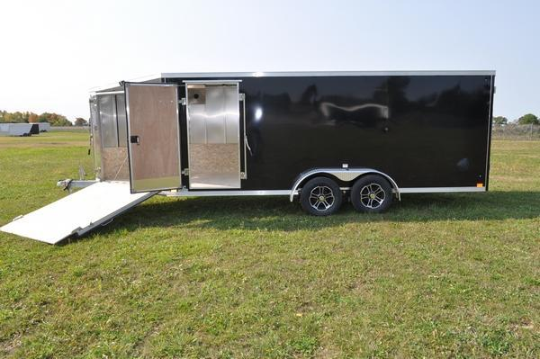 2021 Haul-it 7 x 23 All Aluminum 3 Place Snowmobile Trailer For Sale
