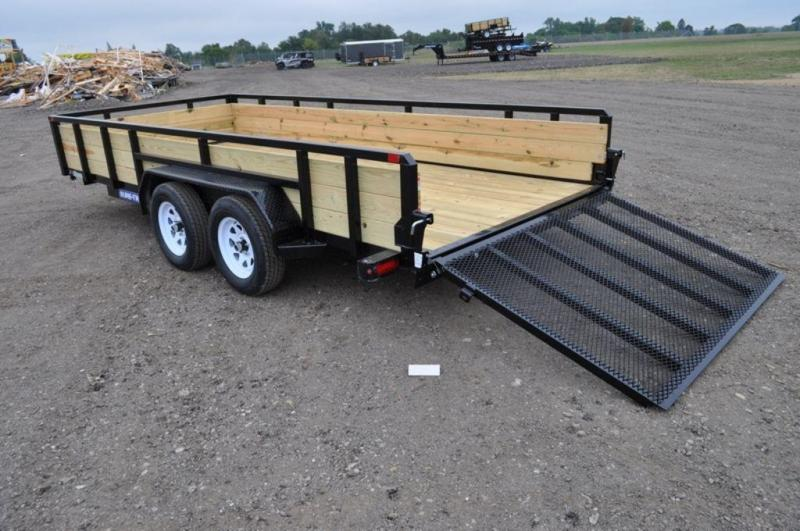 2019 Sure-Trac 7 x 16 Tandem Axle 3 Board High Utility Trailer For Sale