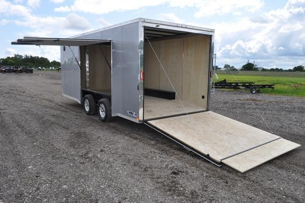 2020 Haul-it 8.5 x 20 Wedge Nose Car / Racing Trailer W/Full Escape Door for Sale