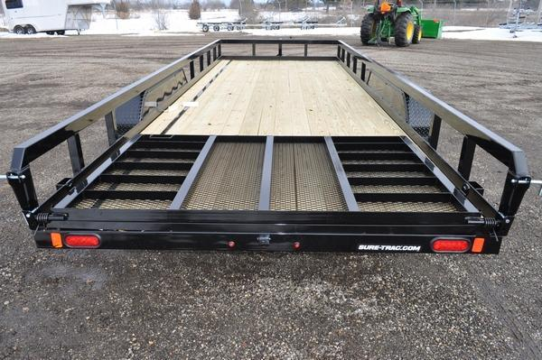 2021 Sure-Trac 7 x 20 Tube Top 10K Utility Trailer For Sale