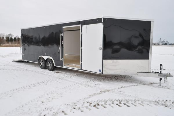 2021 Stealth Trailers All Aluminum 8.5 x 24 + 5 Enclosed 10K Combo Snowmobile Trailer For Sale
