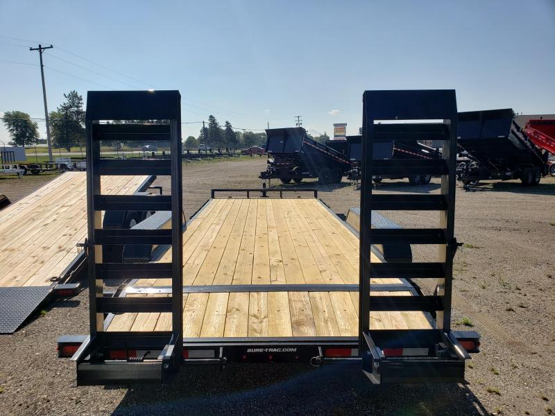 2021 Sure-Trac ST8012AE-B-100 Equipment Trailer