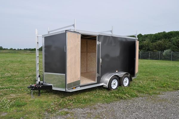 2022 Haul-it 7 x 14 Wedge Nose Enclosed Cargo / Construction Trailer for Sale
