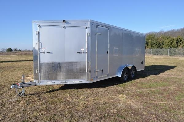 2021 Haul-it 7.5 x 23 All Aluminum 3 Place Snowmobile Trailer for Sale