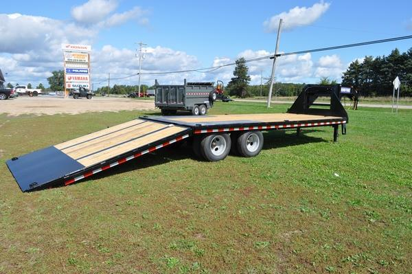 2020 Sure-Trac 101 x 20 10 Hydraulic Beavertail Gooseneck Equipment Trailer For Sale