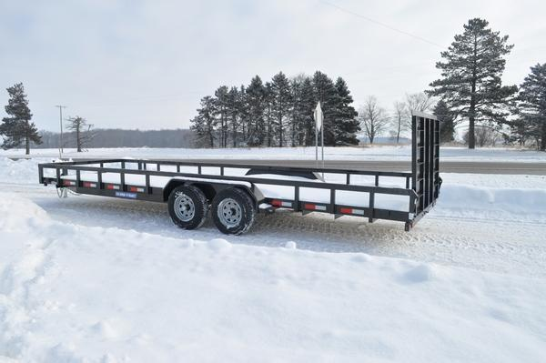 2021 Sure-Trac 7 x 24 Tube Top 10K Utility Trailer for Sale