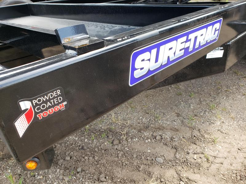2021 Sure-Trac 82 x14 Scissor lift HD low Profile  Dump Trailer For Sale.