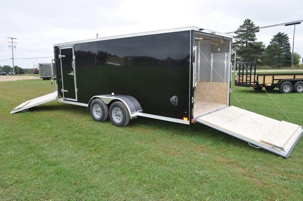2020 Haul-it 7 x 23 All Aluminum Enclosed Snowmobile Trailer