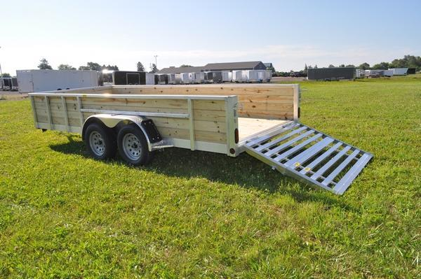 "2021 Haul-it All Aluminum 80"" x 16' 4 Board High Utility Trailer For Sale"