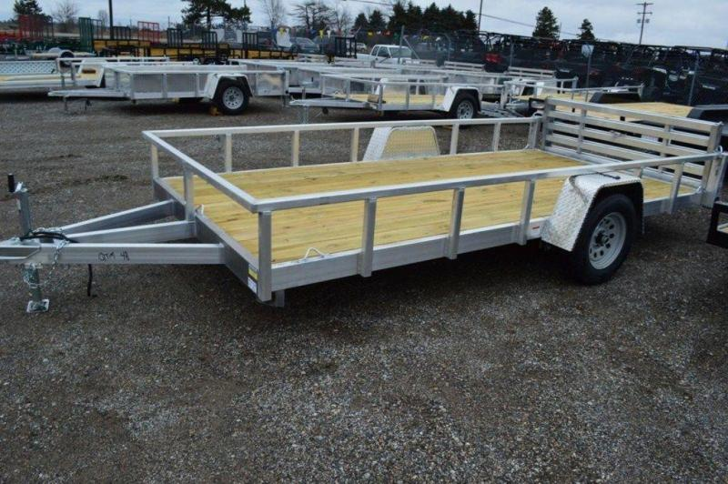 "2021 All Aluminum 80"" x 14' Single Axle Utility Trailer For Sale"