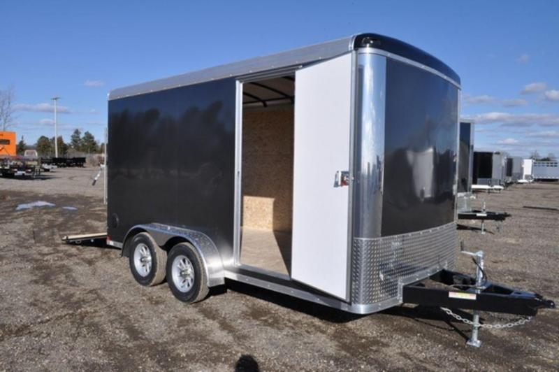 2018 Haul-It 7 x 14 Enclosed Round Top Cargo Trailer for Sale w/ 7 ft Interior