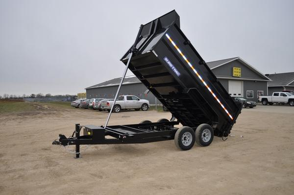 "2020 Sure-Trac 82"" x 14' LP W/4ft Sides Dump Trailer For Sale"