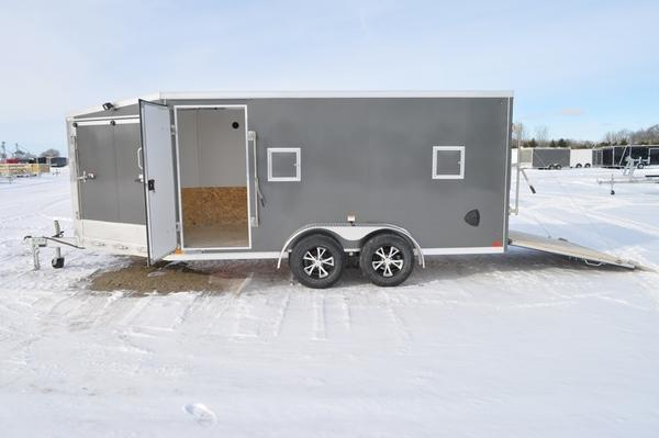 2021 Haul-it 7 x 19 All Aluminum Inline Snowmobile Trailer For Sale