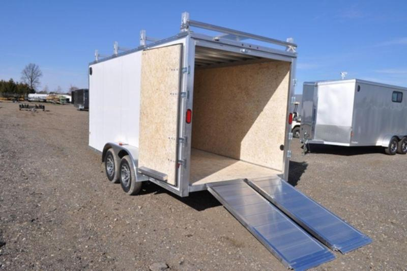 2019 All Aluminum 7 x 16 Enclosed HD Construction Trailer for Sale
