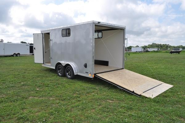 2021 Haul-it 7.5 x 16 Wedge Nose Enclosed Cargo Trailer W/Windows for Sale