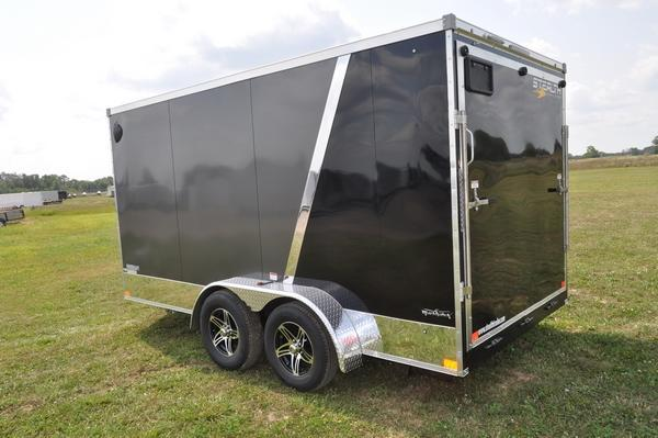 2021 Stealth Trailers 7 x 14 Two Tone Wedge Nose Motorcycle Trailer For Sale