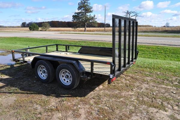 2021 Sure-Trac 7 x 12 Tube Top 7K Utility Trailer For Sale