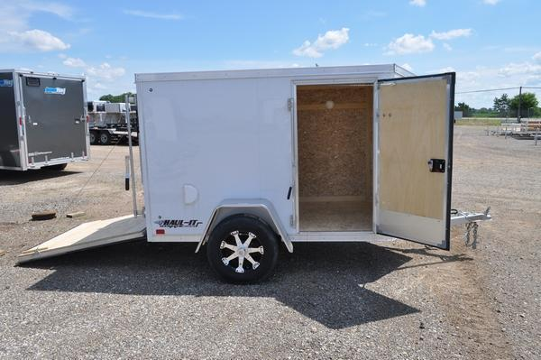 2020 Haul-it All Aluminum 5 x 8 Enclosed Cargo Trailer For Sale