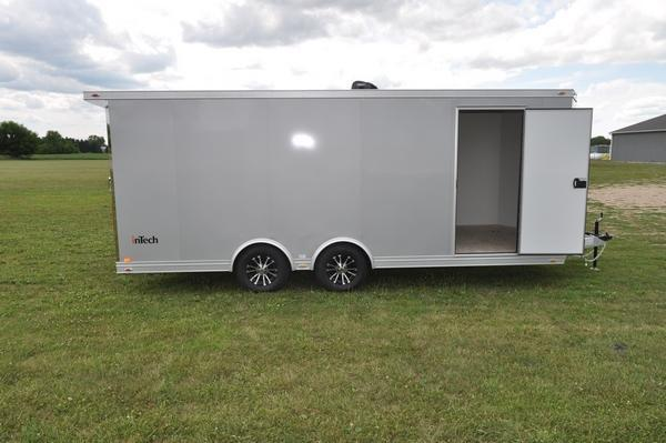 2021 inTech Trailers 8.5 x 20 Wedge Nose All Aluminum 10K Car / Racing Trailer For Sale