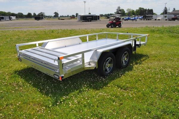 2021 Sure-Trac 7 X 14 Aluminum Tube Top  7K Utility Trailer for Sale