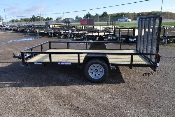 2020 Sure-Trac 7 x 12 Tube Top Single Axle Powder Coated Utility Trailer For Sale