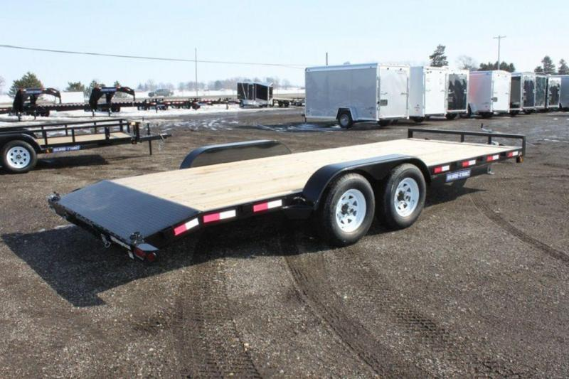 2020 Sure-Trac Open Powder Coated 20' Wood Deck Car Trailer For Sale